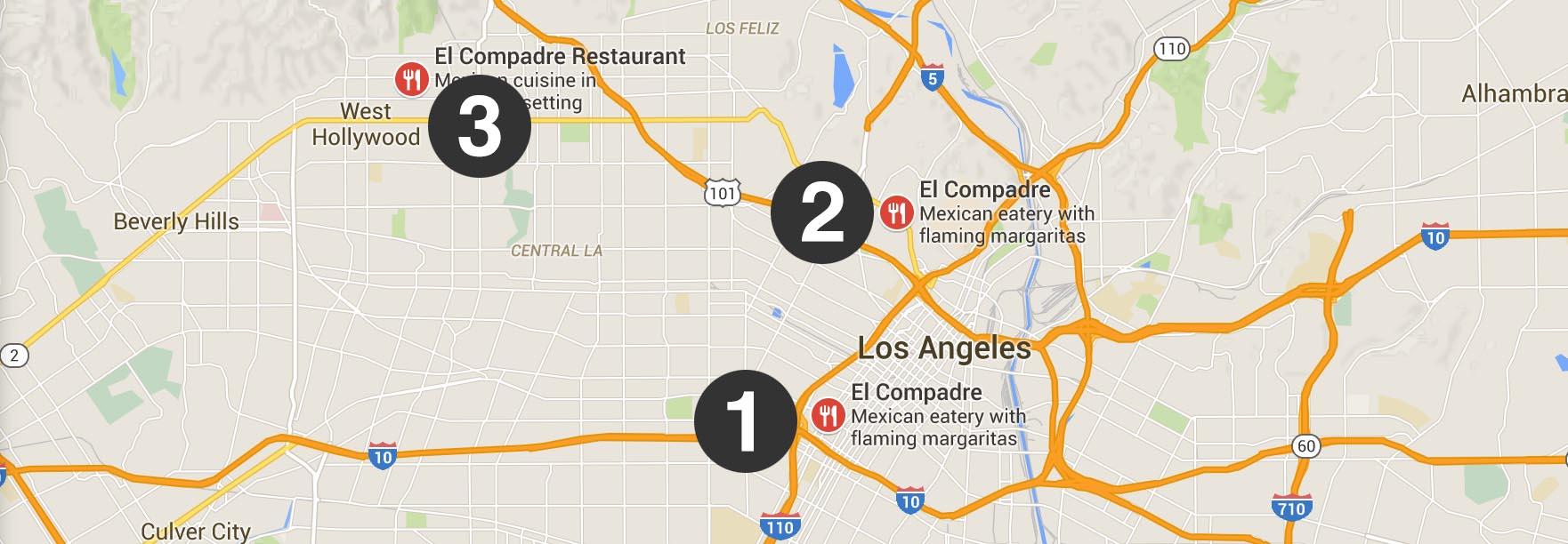 All three locations