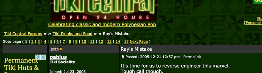 Ray's Mistake guessers online