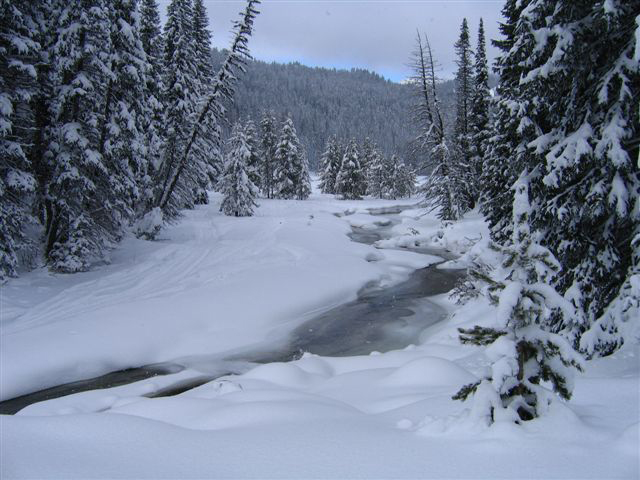 Snake River Canyon region in winter