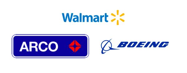 Three corporate logos